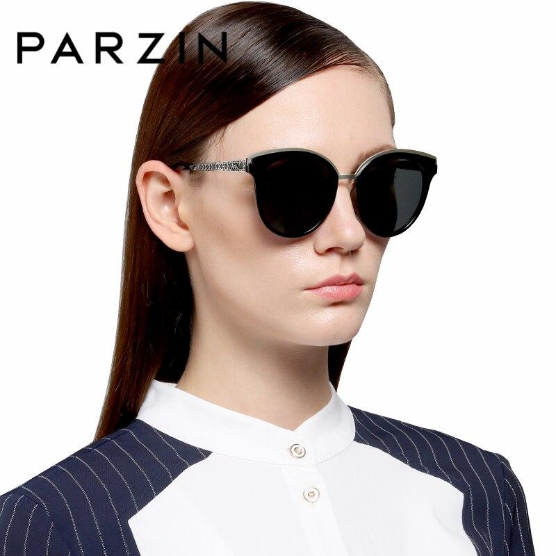 PARZIN pour femmes lunettes de conduite Style Cool lunettes de soleil de haute qualité lunettes polarisées accessoires de mode
