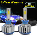 Taitian LED Headlight Bulbs Kit - H1- 60w 6,000Lm 6K Cool White - For Fog DRL Replace Light Source Driving Bulbs