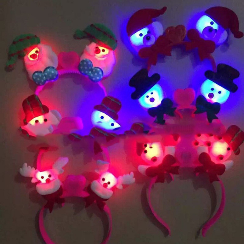 Christmas Light Clap LED Headband Party Festival Glowing Headbands Christmas Toys