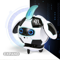 J01 Interactive Gift Soccer Shape Funny For Child Cute Sing Dancing Electric Robot Toy Touch Deformation Voice Control Mini