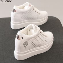 SWYIVY Platform Sneakers Women Casual Shoes