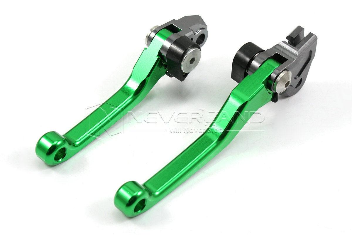 For Kawasaki KDX200/220 1995 1996 1997 1998 1999 2000 2001 2002 2003 2004 2005 2006 CNC Pivot Brake Clutch Levers Green D10