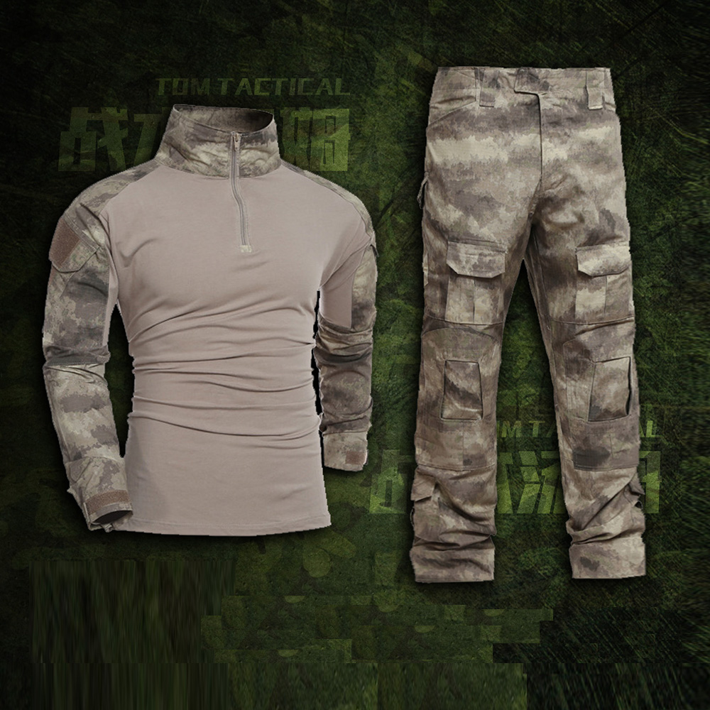Men's Tactical Military Uniform Clothing Camouflage Combat Suit Clothes for Hunter and Fishing Shirt Pants Multicam  Navy Seal