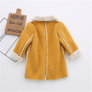 Image 3 - Abrigo de lana para niños y niñas, Chaqueta larga de otoño y primavera