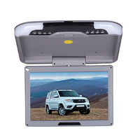 13 Inch Car Monitor Roof Mount Car LCD Color Monitor Flip Down Monitor Overhead Monitors