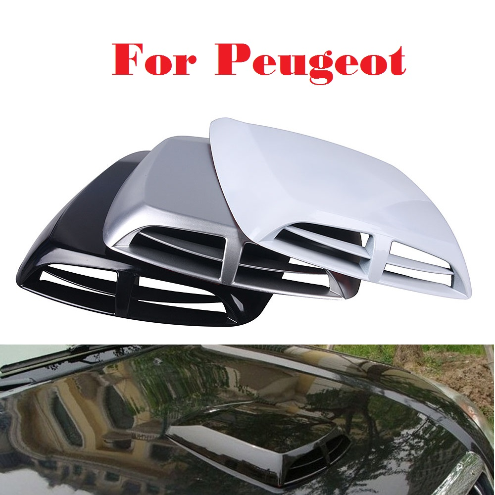 Us 17 3 2017 New Car Stickers Scoop Turbo Bonnet Vent Cover Hood Decorate For Peugeot 1007 107 108 2008 206 207 208 208 Gti 301 307 3008 In Car