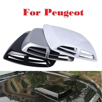 2017 New Car Stickers Scoop Turbo Bonnet Vent Cover Hood Decorate For Peugeot 1007 107 108