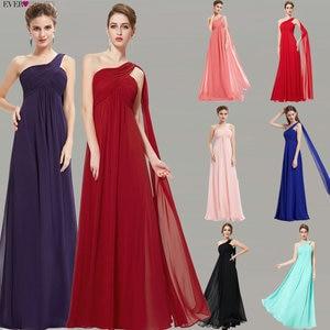 Image 2 - Kleider Für besondere Anlässe EP09816 A linie Einer Schulter Royal Blue Lange Abendkleider 2019 Neue Ankunft Formale Kleider Fit Pergant