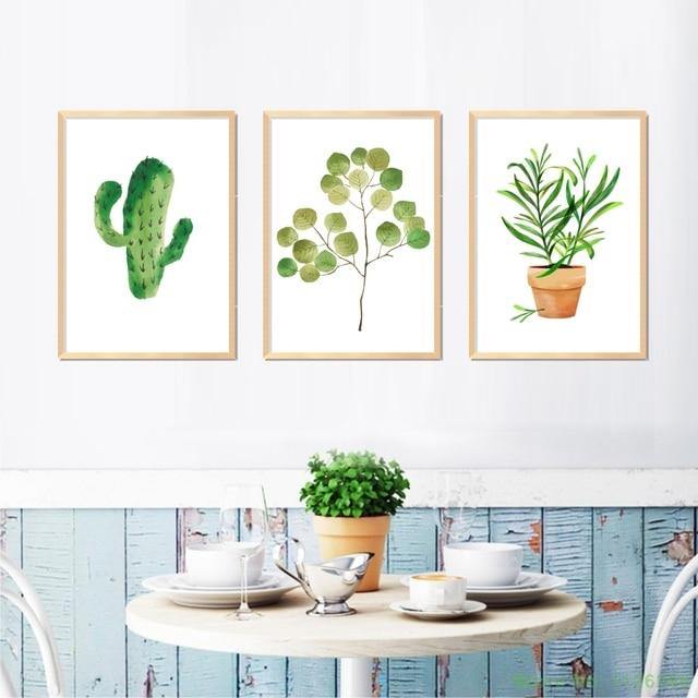 Grün Pflanze Kaktus Bild Kunst Leinwand Malerei Modulare Tapete Moderne  Wand Poster Home Wohnzimmer Dekoration