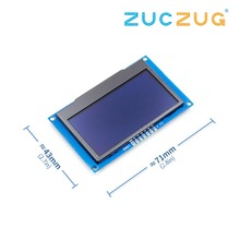 """לבן 2.42 """"2.42 אינץ LCD מסך 12864 תצוגת OLED מודול IIC I2C SPI סידורי עבור C51 STM32 SSD1309"""