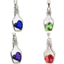 Best Heart Crystal Love In A Bottle Necklace Cheap