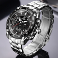 CAINO Mannen Sport Horloges Luxe Top Merk Volledige Staal Fashion Business Waterdicht Analoge Quartz Horloge Mannelijke Relogio Masculino