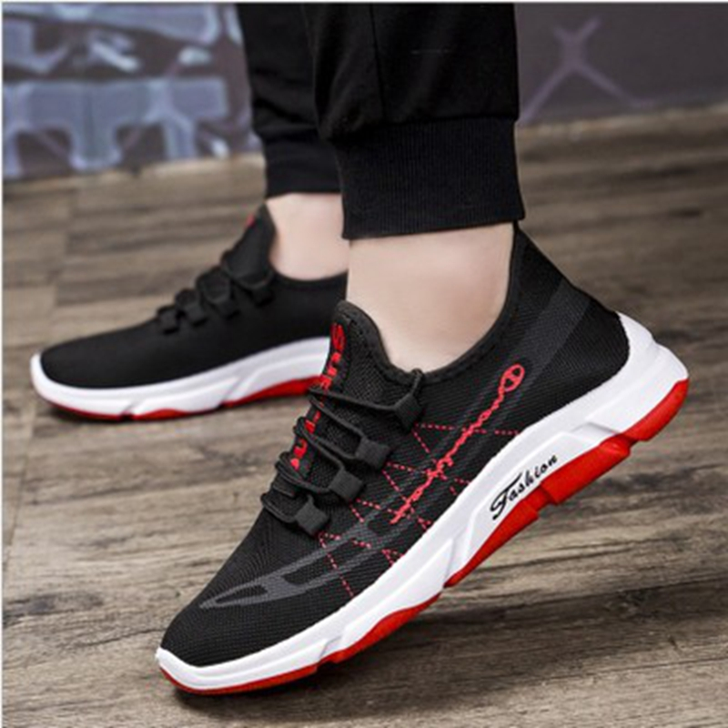 MoneRffi Men Vulcanize Shoes Outdoor Man Sneakers Running For Men Training Casual Comfort Lace-up Footwear Zapatillas Hombre(China)