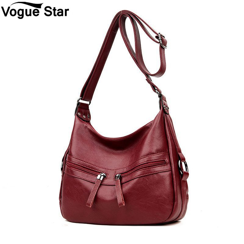 Shoulder Crossbody Bag For Women Brand Soft Leather LUXURY Bags Handbags Women Famous Brands Solid Double Zipper Bag Tote M44