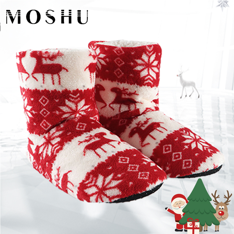 Winter Woman Slippers Plush Warm Cotton Home Slippers Christmas Elk Indoor Socks Shoes Ladies Woman Floor Mules Shoes WomenWinter Woman Slippers Plush Warm Cotton Home Slippers Christmas Elk Indoor Socks Shoes Ladies Woman Floor Mules Shoes Women