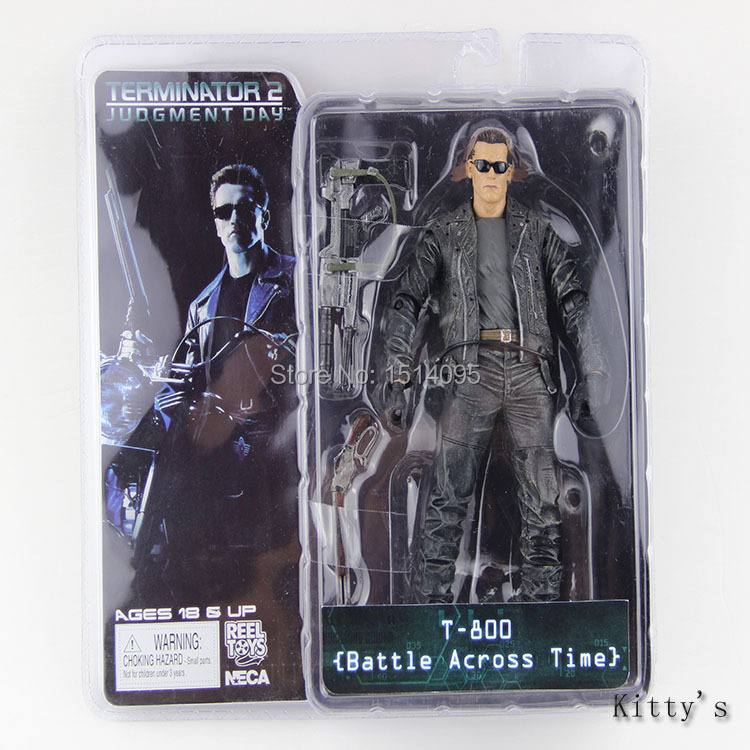 718cm NECA The Terminator 2 Action Figure T-800 Battle Across Time Arnold PVC Figure Toy Model TT006 free shipping neca the terminator 2 action figure t 1000 galleria mall figure toy 718cm mvfg037
