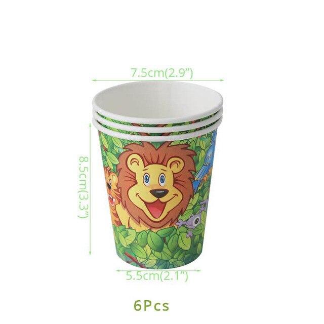 6pcs cups Monkey 1st birthday decorations 5c64f9ae5e140