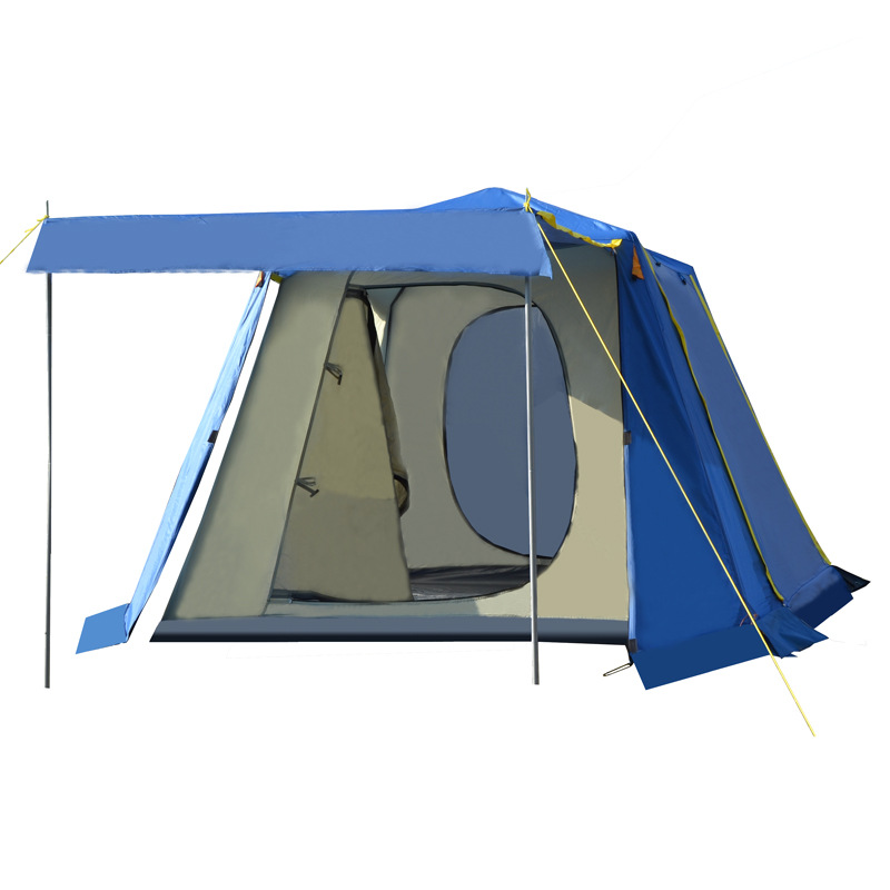 New Upgraded version tents outdoor camping 3-4 camping big tent multi-person automatic tent 3 4 person big size tent for outdoor camping large size camping tent 245x245x145cm 4 67kg