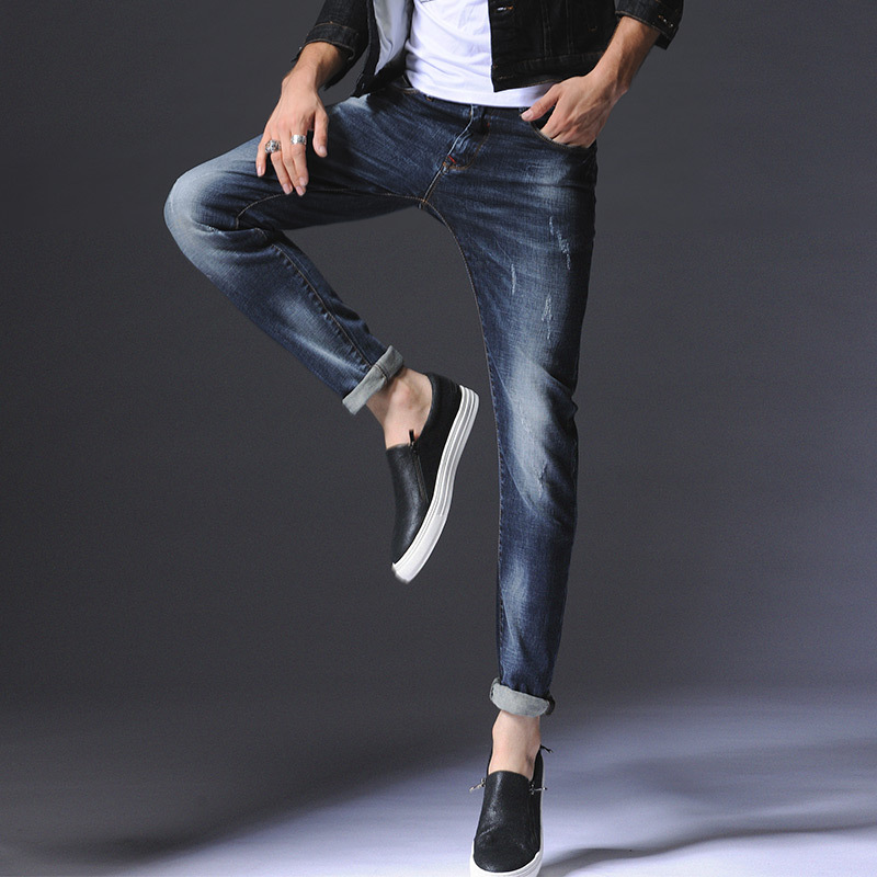 2016 autumn and winter new youth stretch jeans men Korean Slim was thin elastic pants men