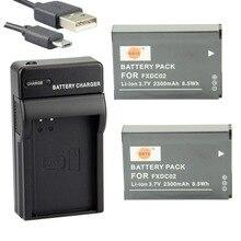 DSTE 2 шт. FXDC02 литий-ионная аккумуляторная батарея + UDC143 USB порт зарядное устройство для дрейф Ghost HD камеры