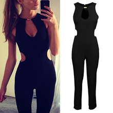 Sexy Party Sleeveless O-neck Backless Bodycon Romper Trousers Clubwear Jumpsuit Women