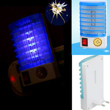 US Plug Trap LED Electric Mosquito Zapper Bug Kill Fly Insect Room Lamps Socket