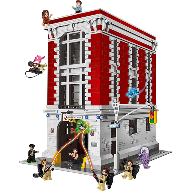 LEPIN 16001 Building Series 4705pcs Ghostbusters Firehouse Headquarters Building Block Bricks set Toys For childre 75827 Gift 4695pcs lepin 16001 city series firehouse headquarters house model building blocks compatible 75827 architecture toy to children