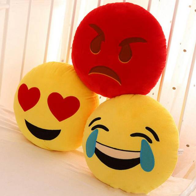 US $8 15 |Cute Round Yellow Emoji Pillow & Cushion Grin Cold Sweat Yummy  Heart Eye Unhappy Emoji Pillow For Home Seat Stuffed Gift Toys-in Cushion