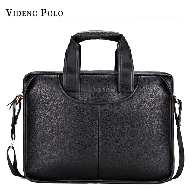 4670d8f0ac High Quality Leather Men Briefcase Large Capacity Male Business Handbag  Gentleman Male Messenger Bag Classic Style