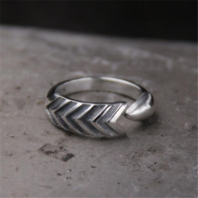 Wholesale Classical 100% 925 Sterling Silver Arrow Ring Fashion Design Wowen 6.50mm 4.20G