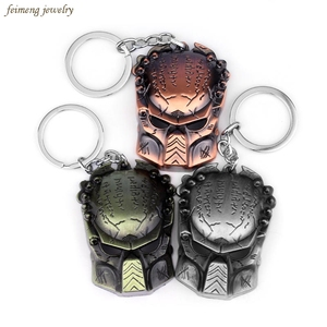 New Arrival New Statement Jewelry AVP Alien predator Keychain Predator Mask Metal Pendant Key Ring Men Jewelry