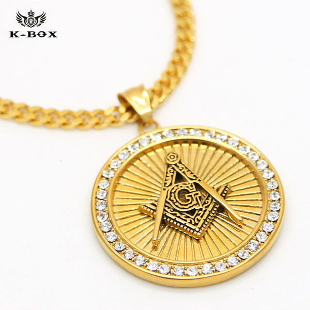 6 design free mason gold coin pendant with 275 cuban chain 6 design free mason gold coin pendant with 275 cuban chain necklace solid stainless steel aloadofball Image collections