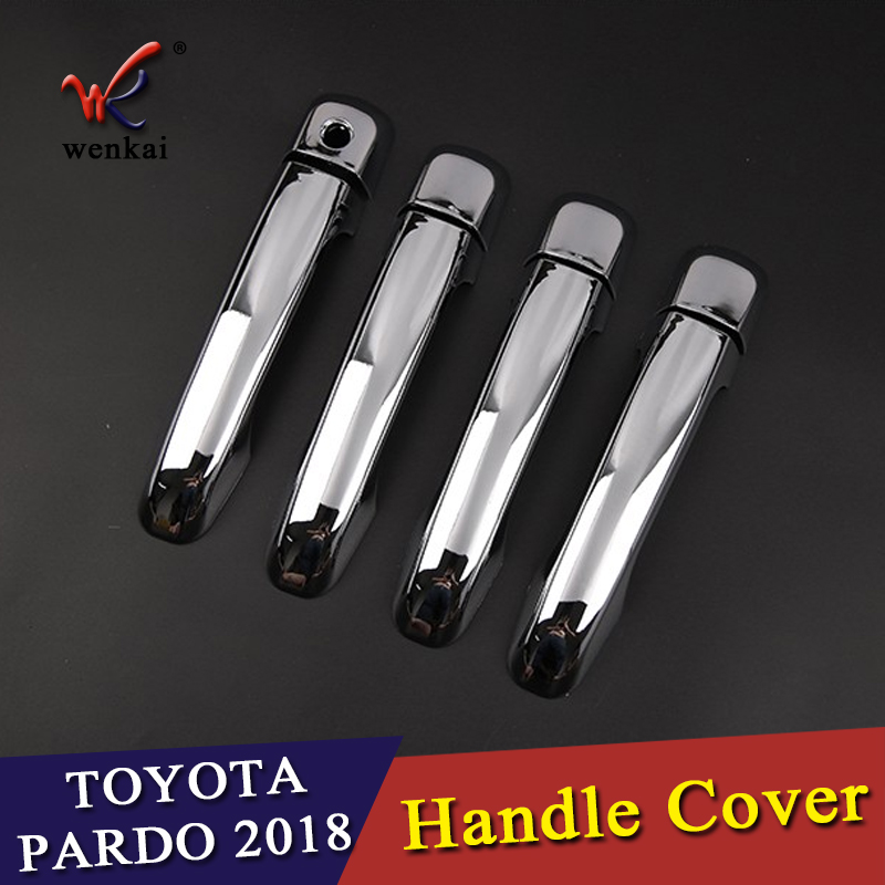 ABS Chrome Door Handle Styling Cover Protection trim For <font><b>Toyota</b></font> Land Cruiser <font><b>Prado</b></font> FJ150 <font><b>Accessories</b></font> 2010-2018 image