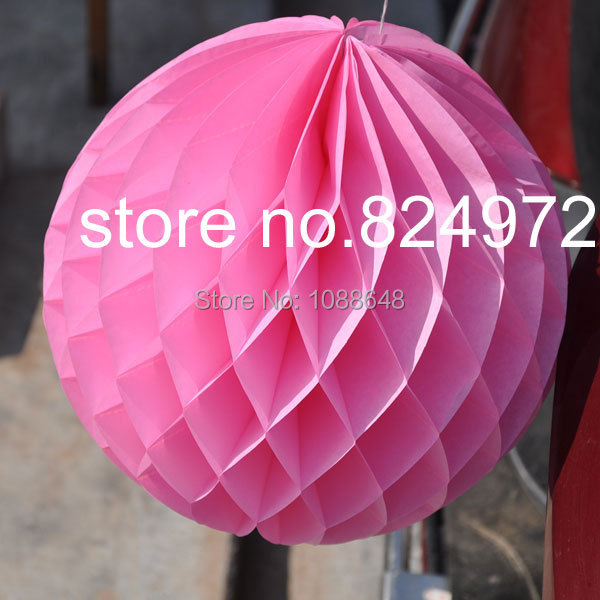 Free shipping 200pcs 6 inches 15cm hanging round Tissue Paper Flower balls Honeycomb paper Lantern Wedding Party decoration in Party DIY Decorations from Home Garden