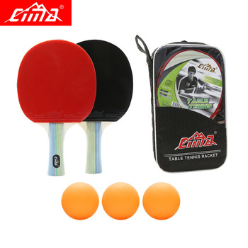 CIMA 7stars Table tennis racket with bag balls set Offensive Pimples-in rubber Sports PingPong Professional table tennis rackets original joola table tennis case bag gourd shape 818 high quality hard shell table tennis rackets racquet sports pingpong case