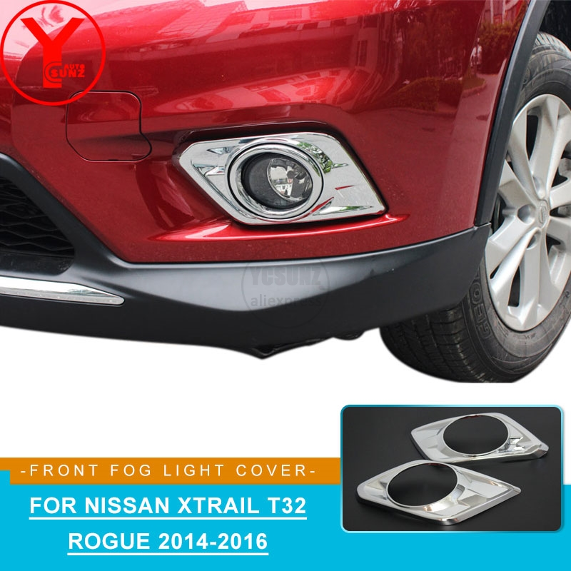 ABS Chrome Front Fog Light Cover For NISSAN X-Trail T32 2014 2015 2016 Car Parts Auto For Nissan X Trail T32 Accessories YCSUNZ