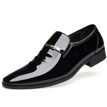 Merkmak Vintage Design Patent Leather Oxford Shoes For Men Dress Shoes Men Formal Shoes Pointed Toe Business Wedding Shoes 9