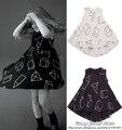 2016 nueva nununu primavera verano niños vestidos para niñas ropa de algodón niños del vestido del bebé