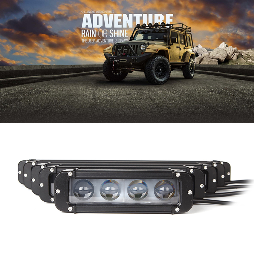Image 2 - XuanBa 4D Lens 11 Inch 60W Led Work Light Bar For Motorcycle Atv Suv Truck 12V Driving Lamp 24V Spot Combo 40 4x4 Off Road Bar-in Light Bar/Work Light from Automobiles & Motorcycles