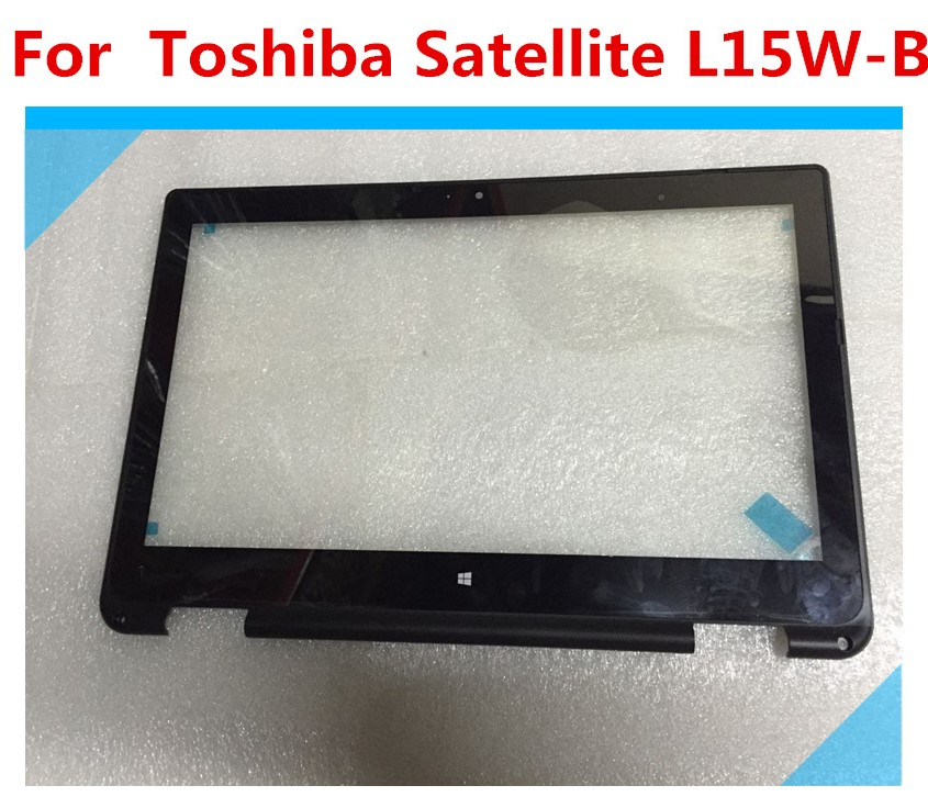 For Toshiba Satellite L15W-B1303 L15W-B1310 Touch Screen Digitizer Glass with BEZEL for toshiba satellite p55t a5118 p55t a5116 p55t a5202 p55t a5200 p55t a5312 p50t a121 10u p50t a01c 01n touch glass screen