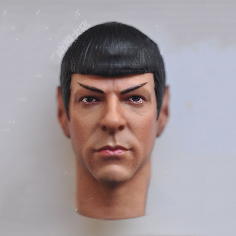 1/6 Scale Star Trek Mr Spock Head Sculpt for 12 Male Bodies Action Figure doll Toys Gifts 1 6 scale the game of death bruce lee head sculpt and kungfu clothes for 12 inches figures bodies