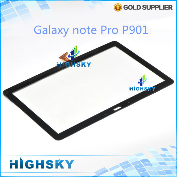 1 piece free shipping 100% original 3g version for Samsung galaxy note pro P901 touch digitizer screen glass with flex cable
