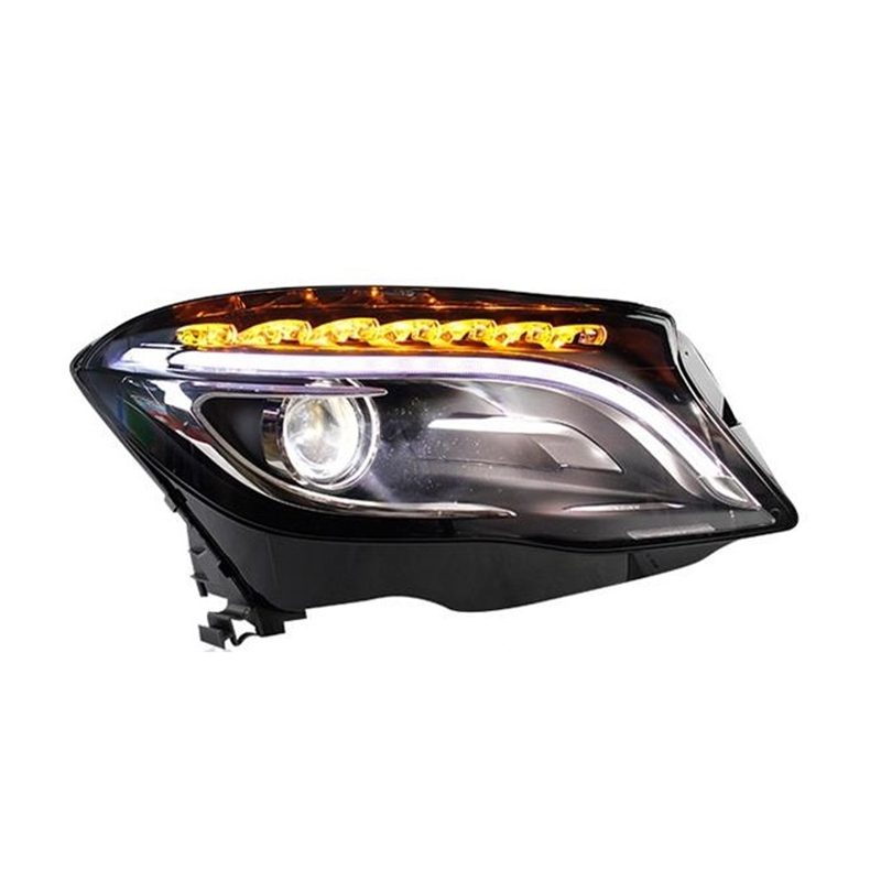 все цены на Accessory Automobiles Neblineros Para Auto Daytime Running Drl Led Headlights Car Lights Assembly For Mercedes Benz Gla