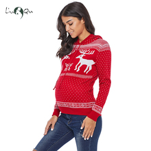 womens ugly christmas sweaters maternity winter clothes reindeer pullover zipper cardigan hooded sweater 2018 red christmas - Maternity Ugly Christmas Sweater