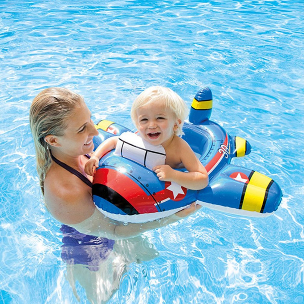 Kids Swimming Laps Rings Seat Boat Toys For Boys Girls Thicken PVC Baby Swim Pool Water Sports Inflatable Circle Seat Float Ring