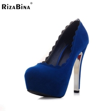 Женщины тонкие туфли на высоких каблуках леди платформы замши свадебные весна насосы каблуках обувь туфли на каблуках размер 33-42 P16141