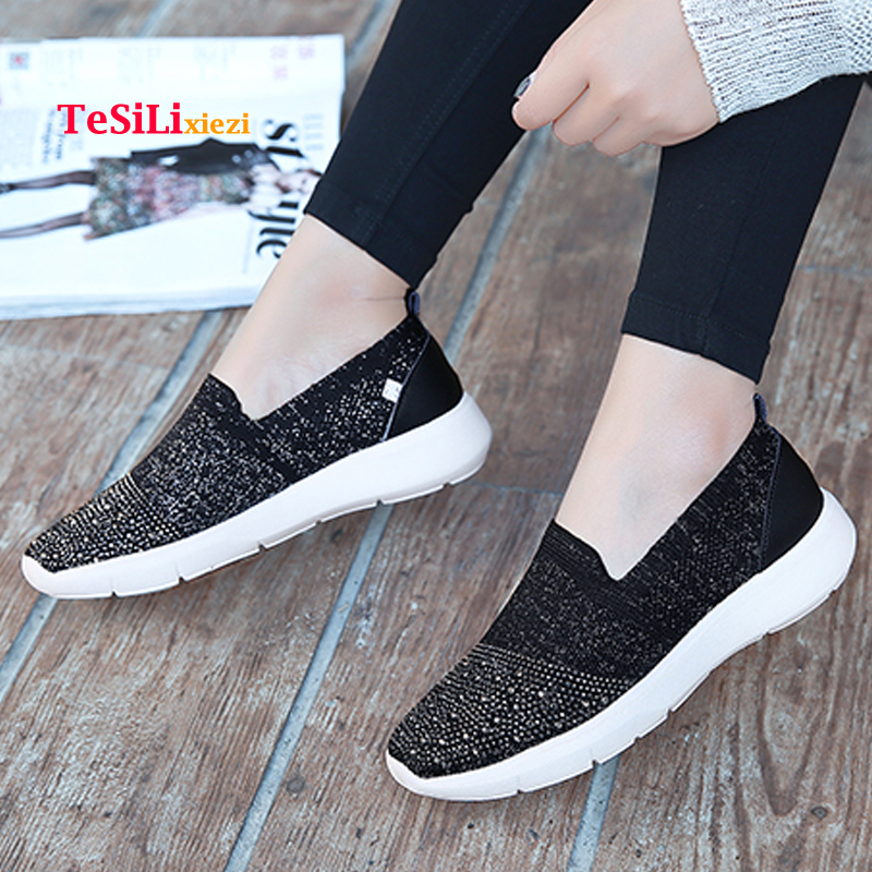 HOT 2018 Spring Summer Women Slip on Flat Shoes Comfortable Fashion Casual Fly Light Breathable Women 39 s Flat Shoes Chaussures in Women 39 s Flats from Shoes