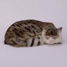Simulation brown cat polyethylene&furs cat model funny gift about 27cmx20cmx6cm