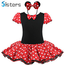 Kids Gift Minnie Mouse Party Fancy Costume Cosplay Girls Ballet Tutu Dress Ear Headband Polka Dot