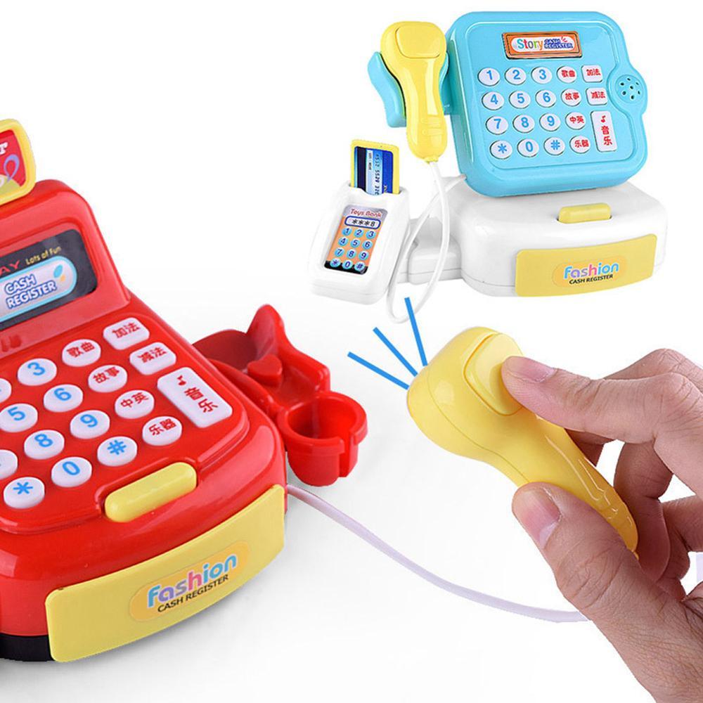 Children Kids Girl Supermarket Sound Cash Register Checkout Pretend Play Toy